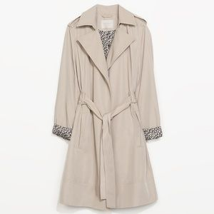 Zara Flowy Trench Coat